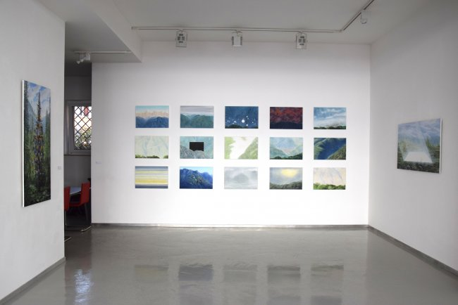 Wieland Payer: Ausstellungsansicht Frankfurt Fahrgasse
