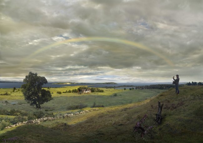 Hiroyuki Masuyama: Landschaft auf Rügen mit Regenbogen