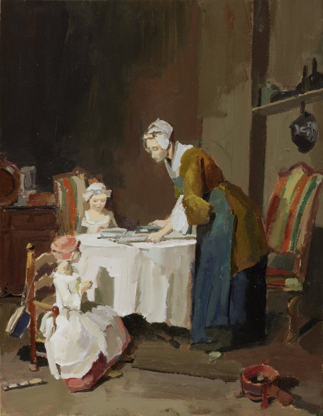 "Jörg Ernert: Nach Chardin ""Das Tischgebet"""