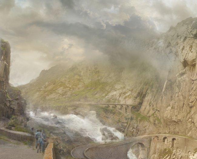 Hiroyuki Masuyama: The St Gotthard pass at the Devil ́s Bridge