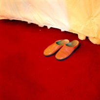 Raissa Venables: Red / Slippers