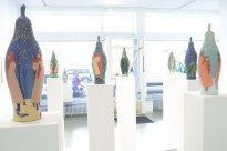 Grita Götze: Ausstellungsansicht Frankfurt 1