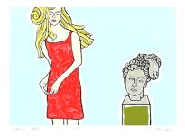Moritz Götze: Mädchen mit antikem Kopf