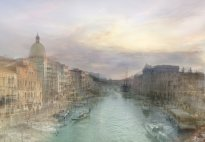 Hiroyuki Masuyama: The Upper End of the Grand Canal, with San Simeone Piccolo; Dusk