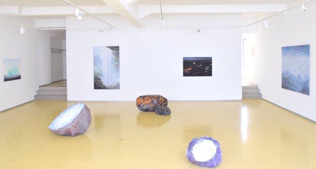 Wieland Payer: Ausstellungsansicht, Galerie Rothamel, Erfurt, 2017