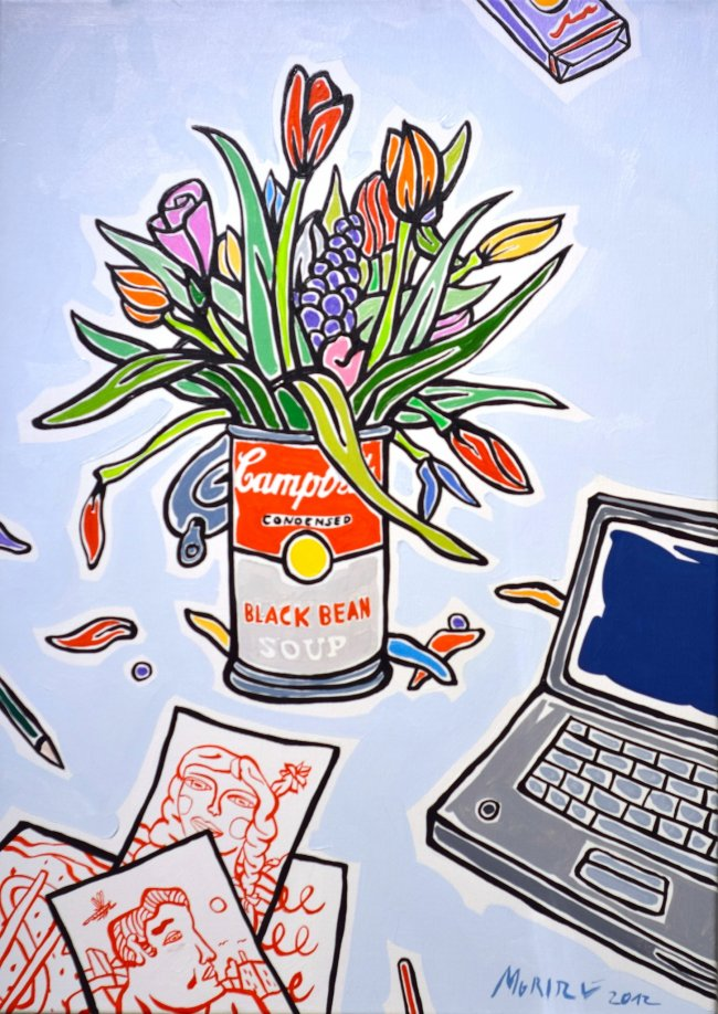 Moritz Götze: Blumen mit Campbell's-Dose