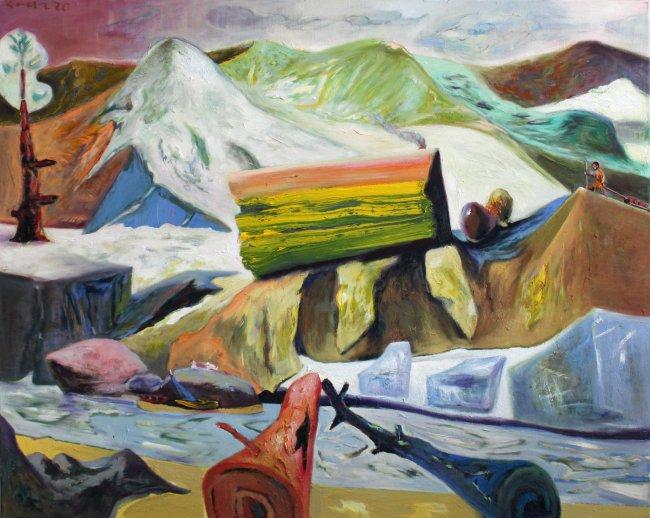 Harald Reiner Gratz: Der Abenteurer, 2020, Öl auf Leinwand, 120 x 150 cm