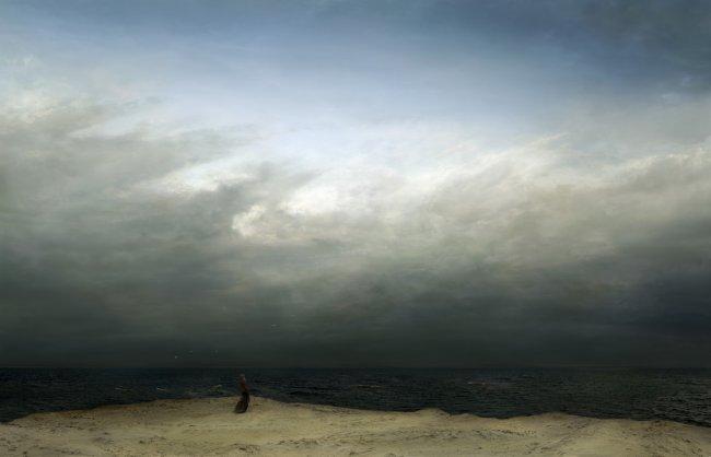 Hiroyuki Masuyama: Der Mönch am Meer (nach Caspar David Friedrich, 1808-10)