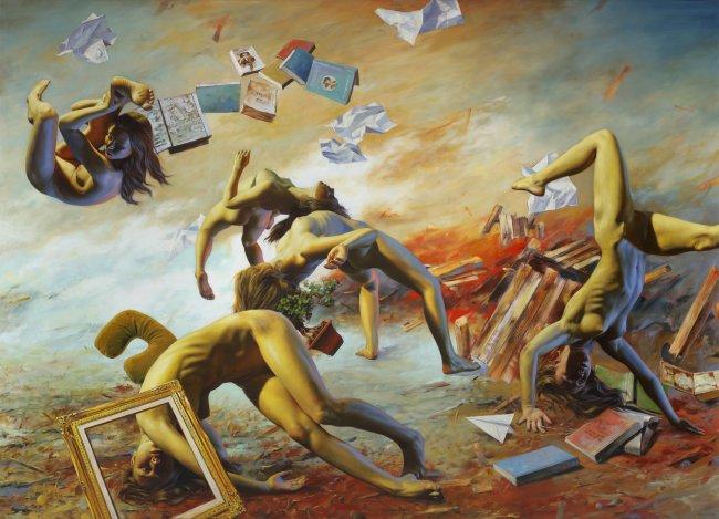 Nguyen Xuan Huy: Der Sturm, 2020, Öl auf Leinwand, 180 x 250 cm