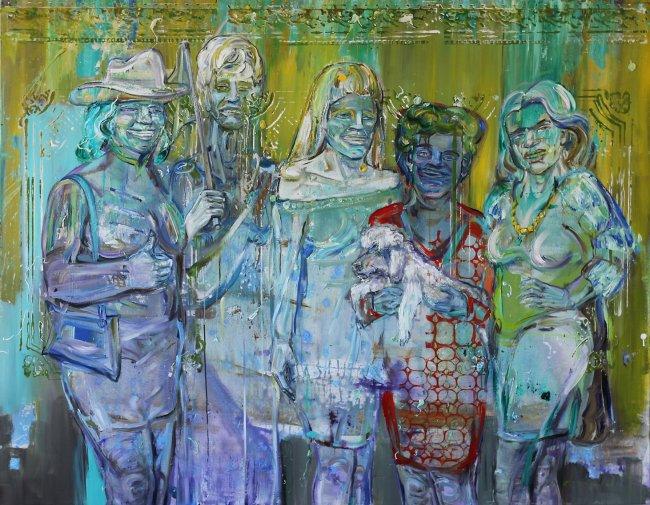 Undine Bandelin: Der Triumph, 2020, Mischtechnik auf Leinwand, 140 x 180 cm