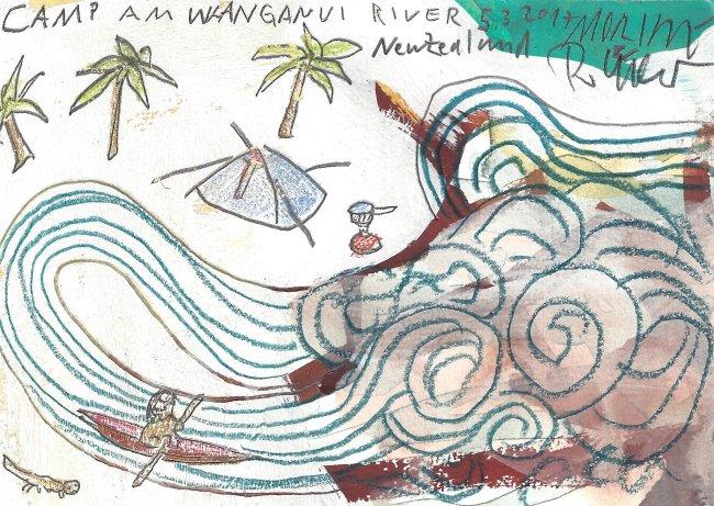 Moritz Götze: Camp am Whanganui River