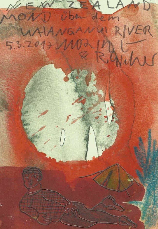 Moritz Götze: Mond über dem Whanganui River