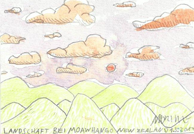 Moritz Götze: Landschaft bei Moawhango
