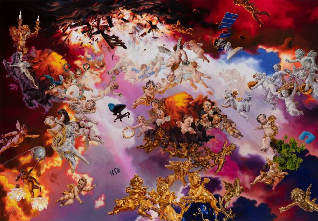Nguyen Xuan Huy: Invasion 2.0, 2019, oil on canvas, 270 x 390 cm