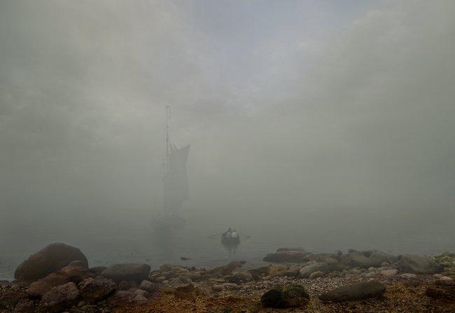 Hiroyuki Masuyama: Nebel (nach Caspar David Friedrich, 1807)