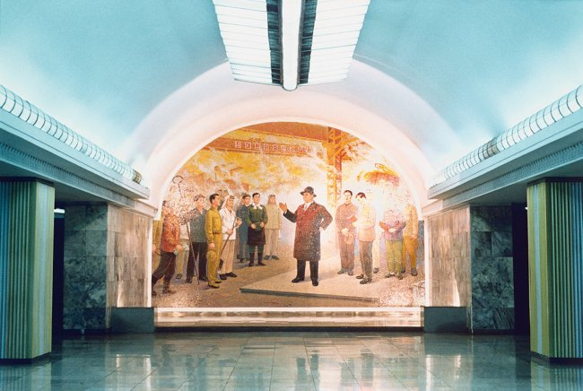 Hans-Christian Schink: Pjöngjang Metro 6