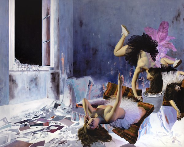 Nguyen Xuan Huy: Swan Lake on the Couch, 2019, oil on canvas, 200 x 250 cm