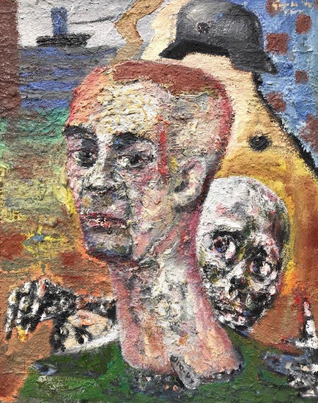 Harald Reiner Gratz: Tristan ohne Isolde, 2020, Öl auf Leinwand, 100 x 80 cm