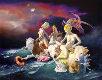 Nguyen Xuan Huy: Nacht-und-Nebel-Aktion, 2021, oil on canvas, 197 x 250 cm