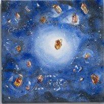 Thitz: Cosmic Bag Art, 2020, Acryl auf Leinwand, 40 x 40 cm