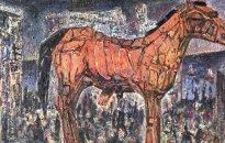 Harald Reiner Gratz: Das Pferd, 2019, Öl auf Leinwand, 100 x 150 cm