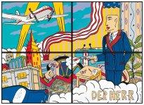 Moritz Götze: Der Herr, 1995, vierteilige Farbgrafik, Auflage 40, 140 x 200 cm