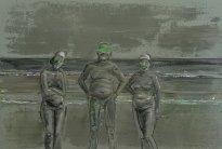 Undine Bandelin: Der Horizont, 2021, Öl und Acryl auf Leinwand, 100 x 150 cm