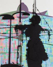 Annette Schröter: Erscheinung 3, 2020, Papierschnitt, 92 x 72 cm