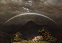 Hiroyuki Masuyama: Gebirgslandschaft mit Regenbogen (nach Caspar David Friedrich, 1810)