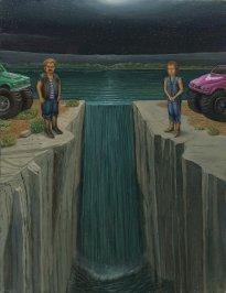 Marten Schädlich: Harry und Mary, 2020, Öl und Eitempera auf Leinwand auf Karton, 30 x 22 cm