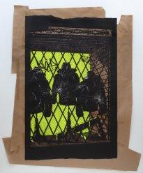 Annette Schröter: High Noon, 2019, Papierschnitt, 260 x 200 cm