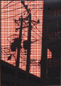 Annette Schröter: Himmel über M.2, 2018, Papierschnitt, 100 x 70 cm