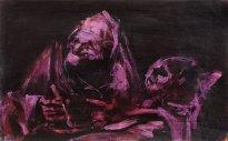 """Jörg Ernert: Nach Goya """"two old men eating"""""""