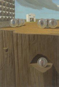 Marten Schädlich: Kokon, 2020, Öl und Eitempera auf Mdf, 46 x 31 cm