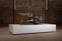 Dana Meyer: Krokodil, 2020, Stahl - geschmiedet und geschweißt, 60 x 68 x 143