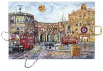 Thitz: London, 2020, Acryl und Tüten auf Leinwand, 60 x 90 cm