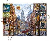 Thitz: London Urban Bag Art Fleet Street, 2019, Acryl und Tüten auf Leinwand, 160 x 120 cm