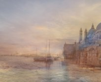 Hiroyuki Masuyama: Looking up the Giudecca Canal, with Santa Maria della Salute on the Right