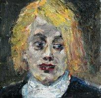 Harald Reiner Gratz: Lord Byron, 2019, Öl auf Leinwand, 40 x 40 cm