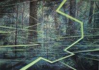 Wieland Payer: Lumen (Balz), 2021, Pastell, Aquarell und Kohle auf grundiertem MDF, 70 x 100 cm