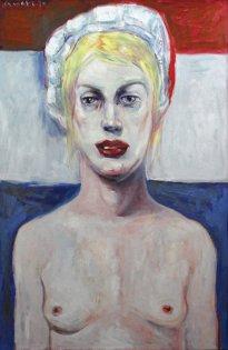 Harald Reiner Gratz: Marie Antoinette, 2020, Öl auf Leinwand, 120 x 90 cm