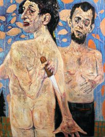 Harald Reiner Gratz: Medea und Jason, 2019, Öl auf Leinwand, 150 x 120 cm