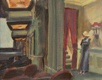 "Jörg Ernert: Nach Hopper ""Kino in NY"", 1. Fassung"