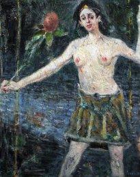 Harald Reiner Gratz: Ophelia tanzt, 2019, Öl auf Leinwand, 150 x 120 cm