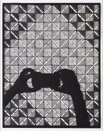 Annette Schröter: Ornament ist Versprechen, 2018, Papierschnitt, 92 x 72 cm