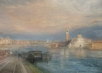 Hiroyuki Masuyama: San Giorgio Maggiore from the Hotel Europa, at the Entrance to the Grand Canal