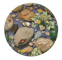 Grita Götze: Schönbär,  2021, Teller, Engobemalerei, ∅ 36,5 cm