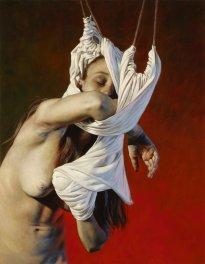 Nguyen Xuan Huy: Silence 10, 2020, oil on canvas, 90 x 70 cm