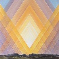 Wieland Payer: Stargate, 2018, Pastell auf grundiertem MDF, 145 x145cm