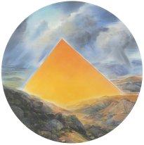 Wieland Payer: Terra Incognita, 2020, Pastell, Aquarell und Kohle auf grundiertem MDF, ∅ 108 cm